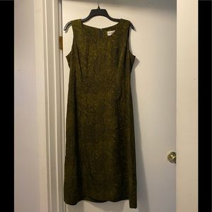 Studio I maxi dress size 12 dark green paisley